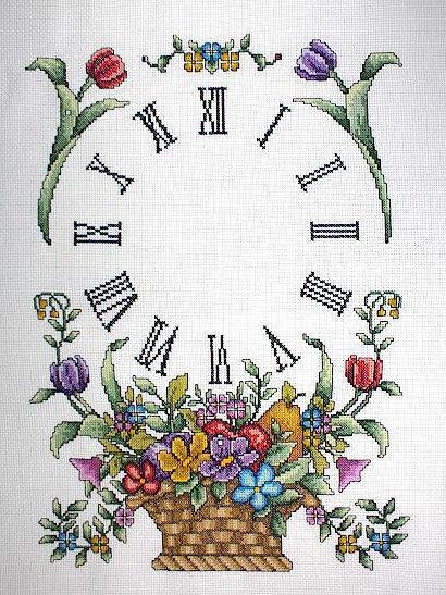 Часы Корзинка цветов, цветы,