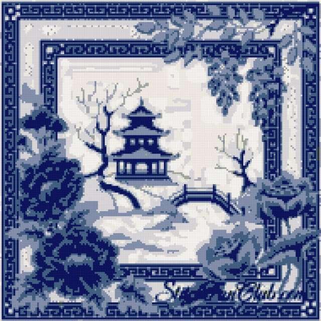 Пагода схема вышивка