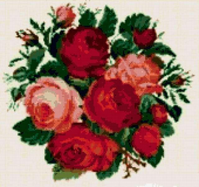 "Подушка ""Розы"", подушка, розы,"