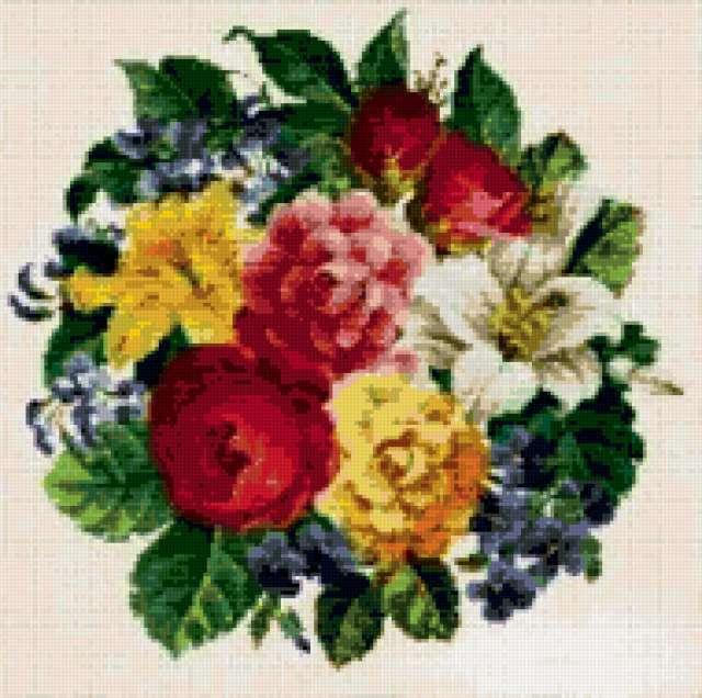 розы, цветы, букет, венок,