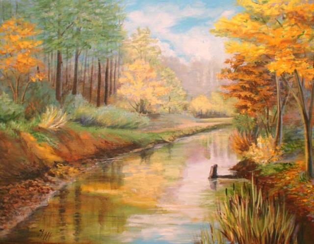 Красивая осень, осень, пейзаж,