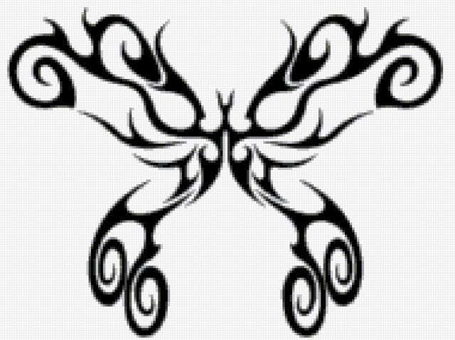 Бабочка ажурная, монохром