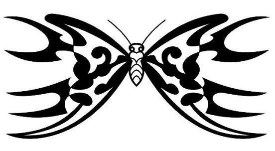 Бабочка, монохром