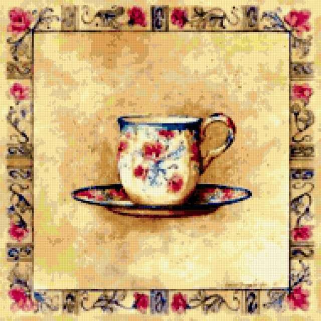 Подушка чайный сервиз