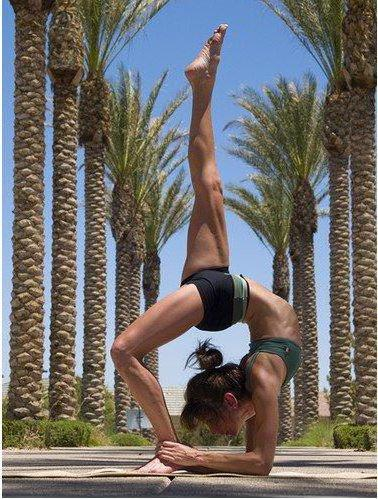 Йога, девушка, женщина, спорт