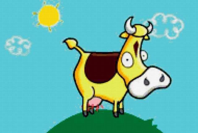 Веселая корова, предпросмотр