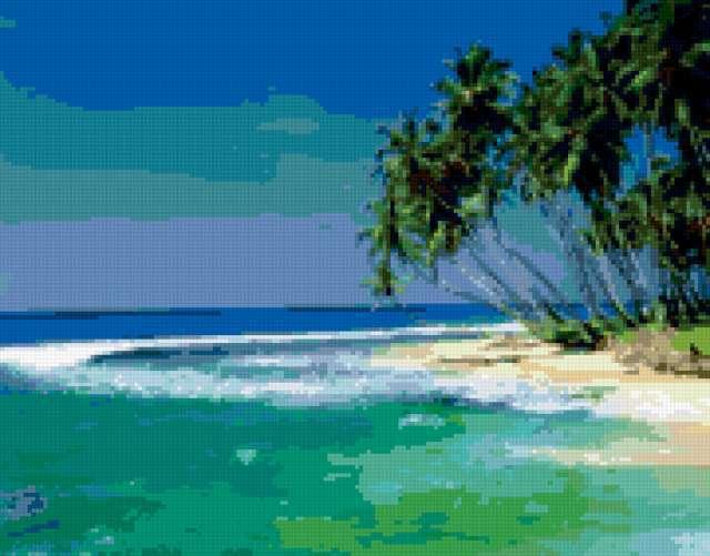 Пальмы на берегу...