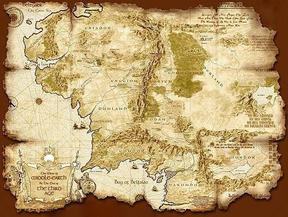 схему вышивки «Карта Арды»