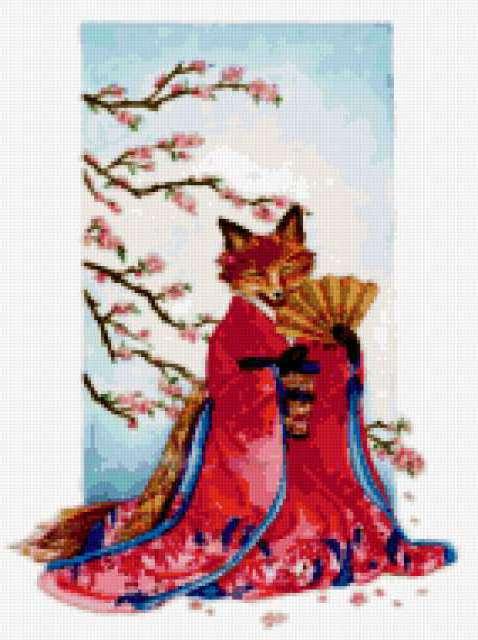 Лиса в кимоно, предпросмотр