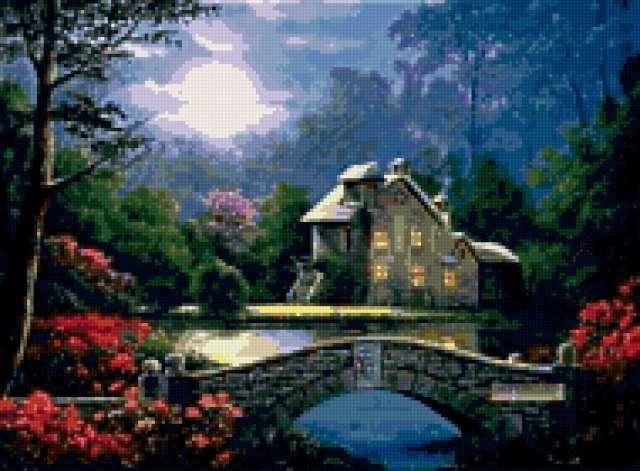 Прекрасный домик у озера,