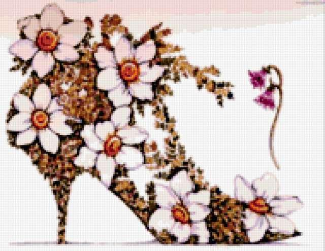 Туфелька из цветов