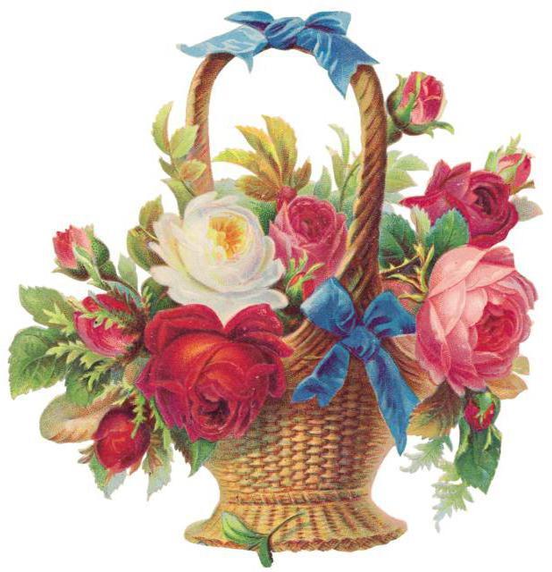 Корзина цветов, цветы, цветок,