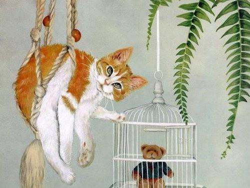 Клетка, кошки