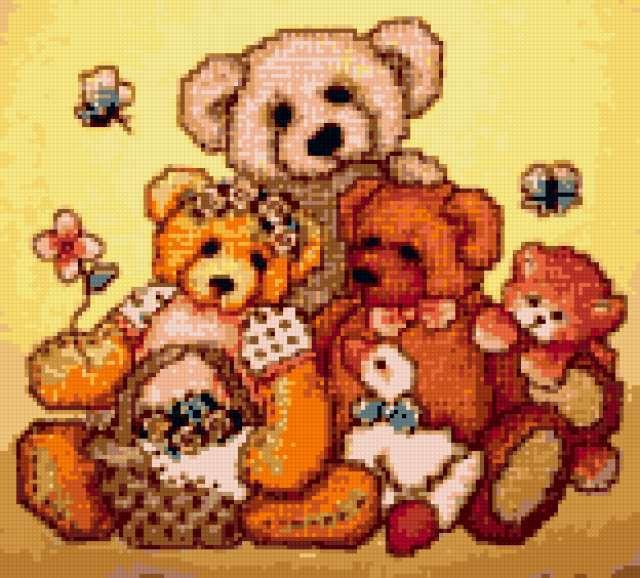 Медвежья семья, предпросмотр