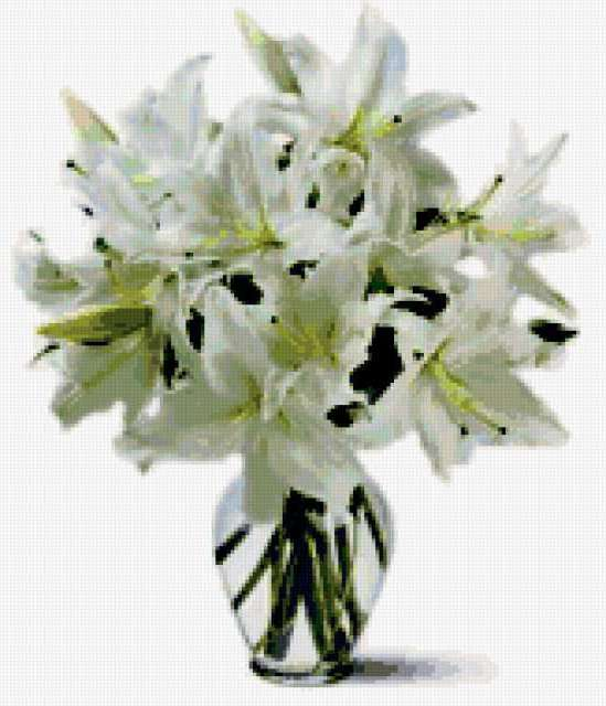 Букет белых лилий