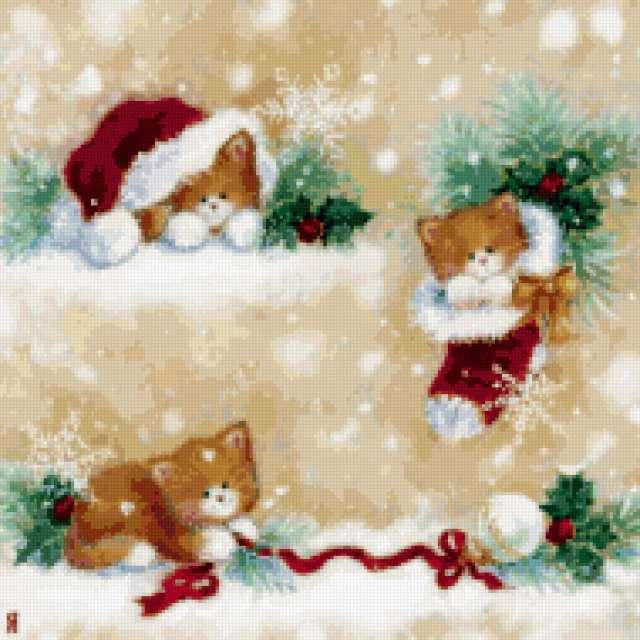 Подушка котята, предпросмотр