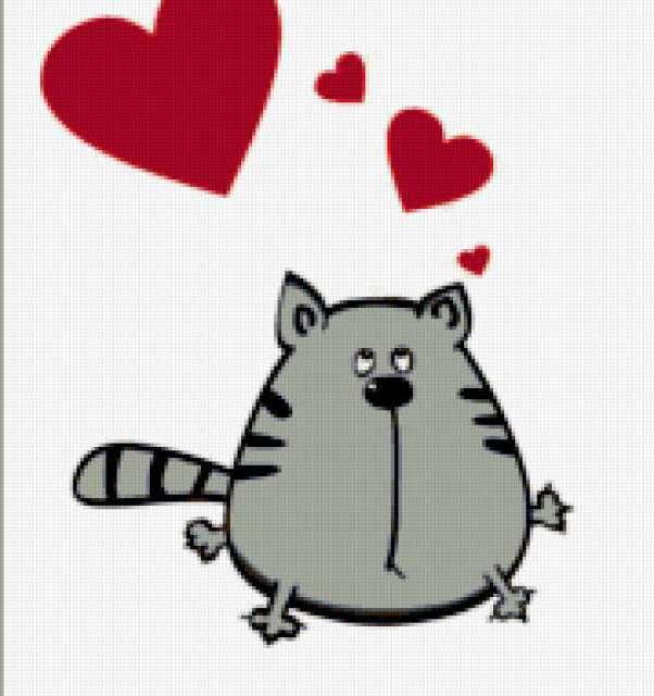 Влюбленный кот, предпросмотр