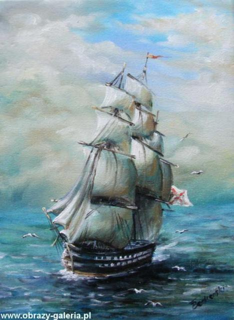 Корабль, пейзажи, прибой, море