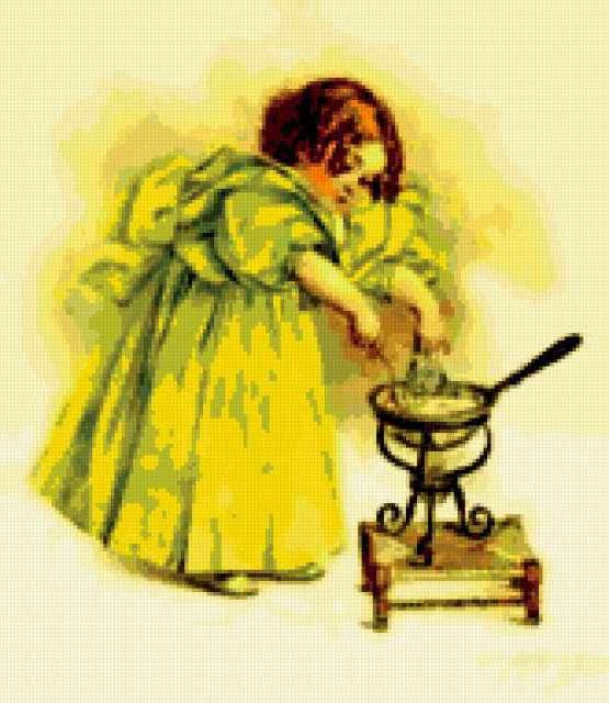 Схема вышивки повариха