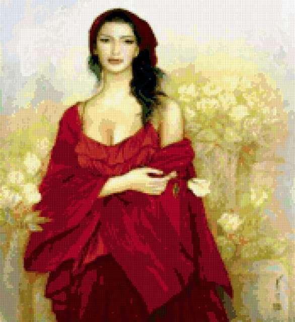 Красивый портрет, девушка