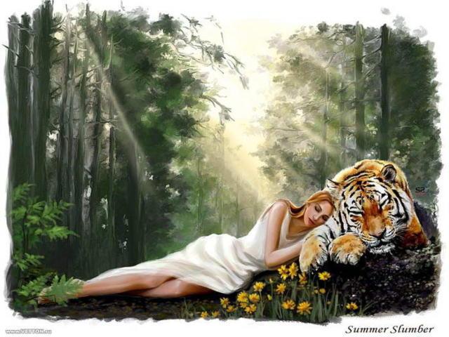 Девушка и тигр 8, оригинал
