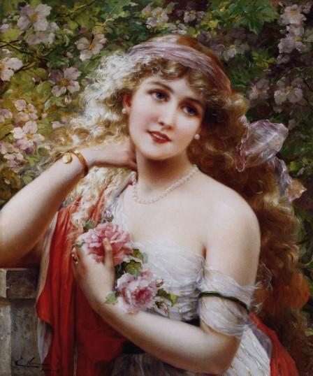 Девушка с розами (Эмиль
