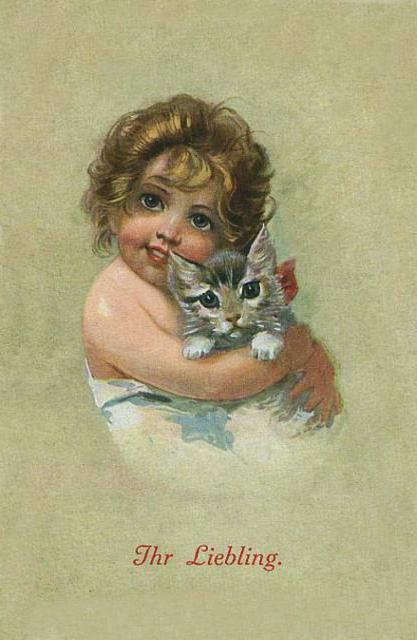 Девочка с котенком, оригинал