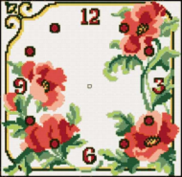 Циферблат Маки, цветы, маки,