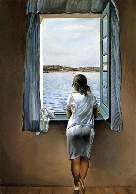 Девушка у окна (С.Дали),