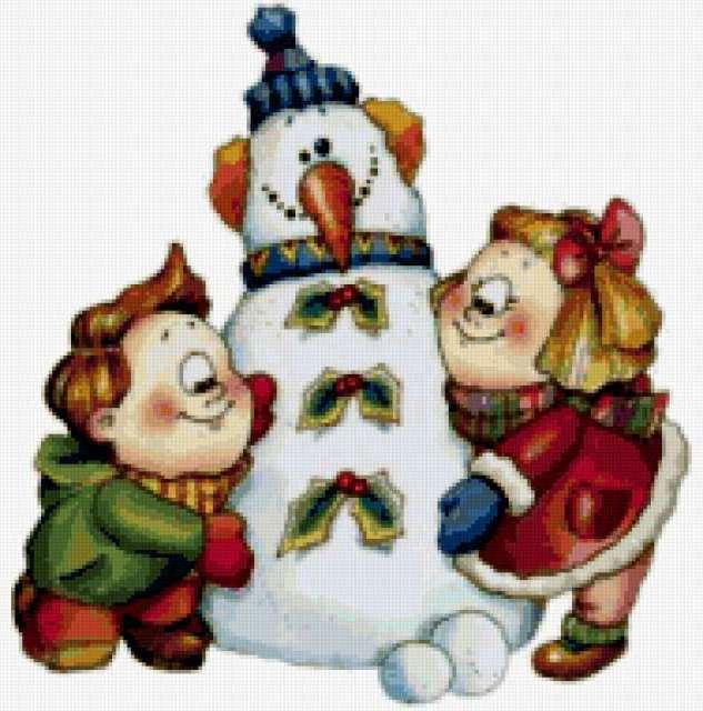 Креативный снеговик
