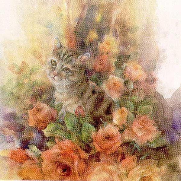 Кот и розы, оригинал