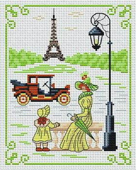 Схема вышивки хочу в париж