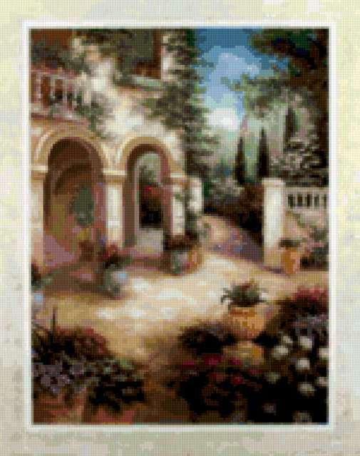 Схемы Вышивки Крестом Итальянский Дворик
