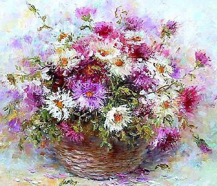 Хризантемы, хризантемы, цветы
