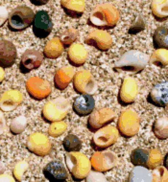 Подушка морские ракушки