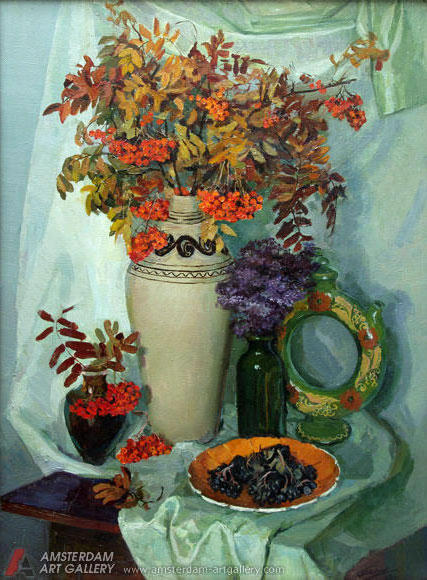 Still life with ashberry,