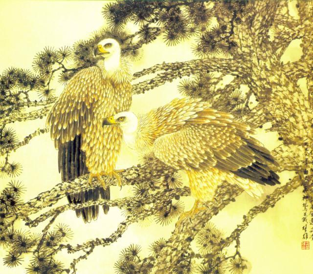 Два орла., орлы, орел, орлы на
