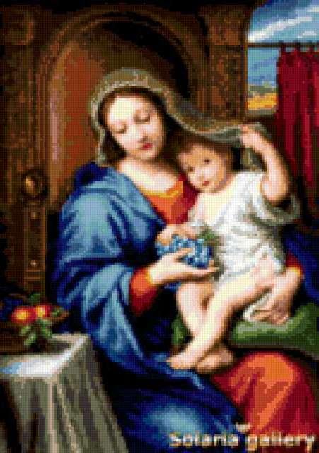 Мадонна с виноградом