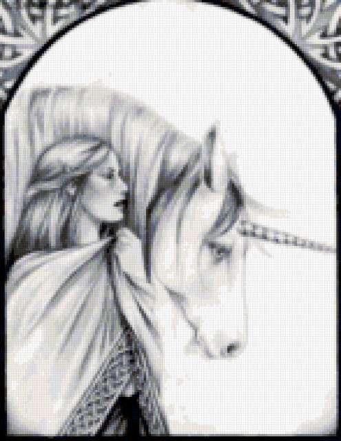 Эльфийка и единорог