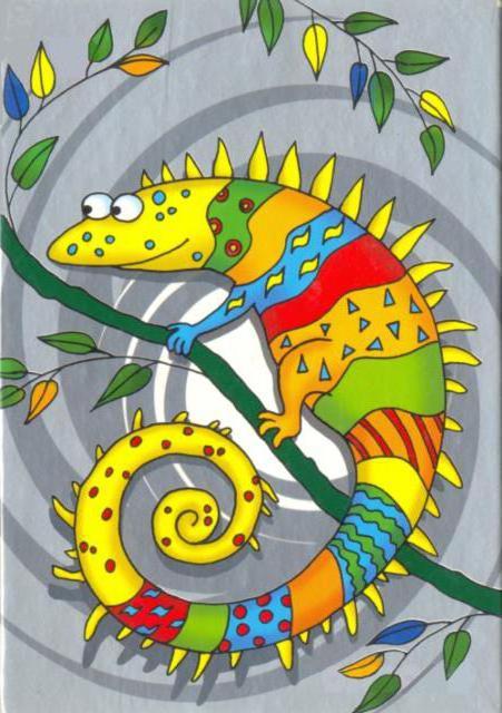Красочный хамелеон., оригинал