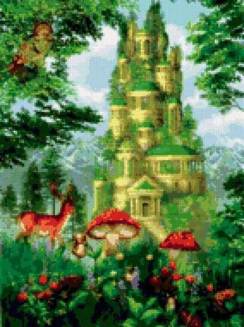 Сказочный замок, пейзаж