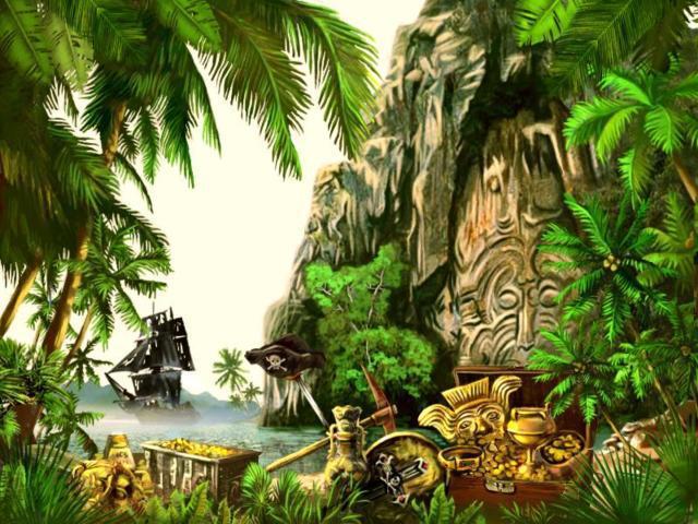 Остров сокровищ, пейзаж