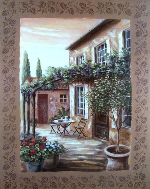 Итальянский дворик, оригинал