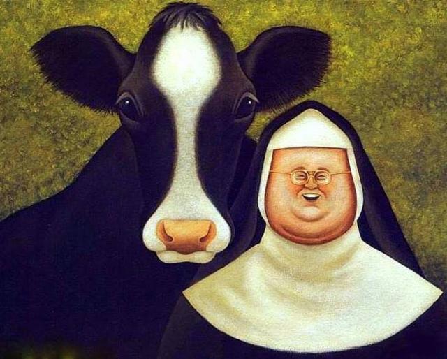 Весёлая монашка, монахиня