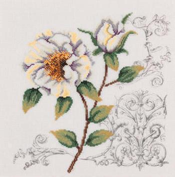 Вензель, цветы