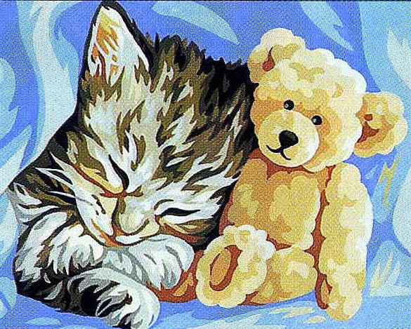 Мой любимый мишка, кошка,