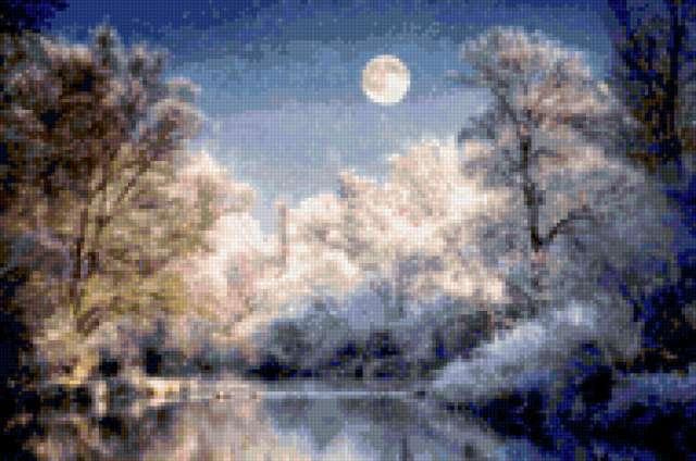 Зимний пейзаж, предпросмотр