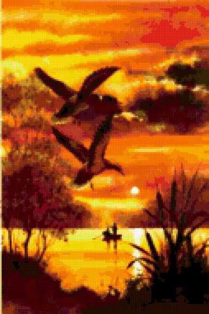 Утки над озером., предпросмотр