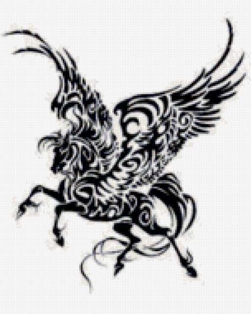 Пегас, животные, фэнтези, конь
