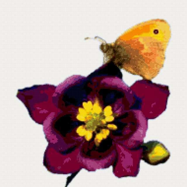 Подушка бабочка на цветке,